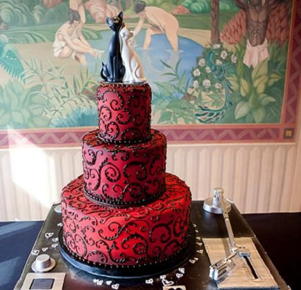 red and black themed wedding cakes 17 best ideas about wedding dresses on 19065