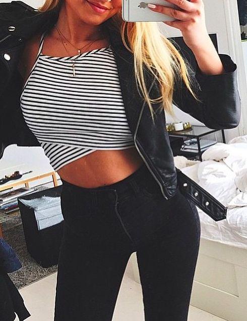 stripe + black