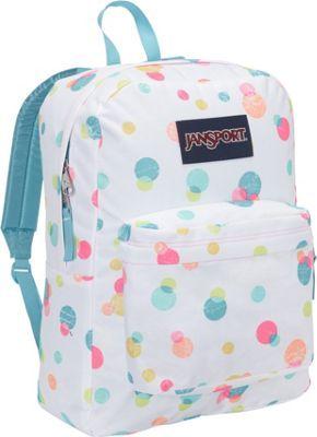JanSport SuperBreak Backpack Pink Pansy Confetti Dots - via eBags.com!