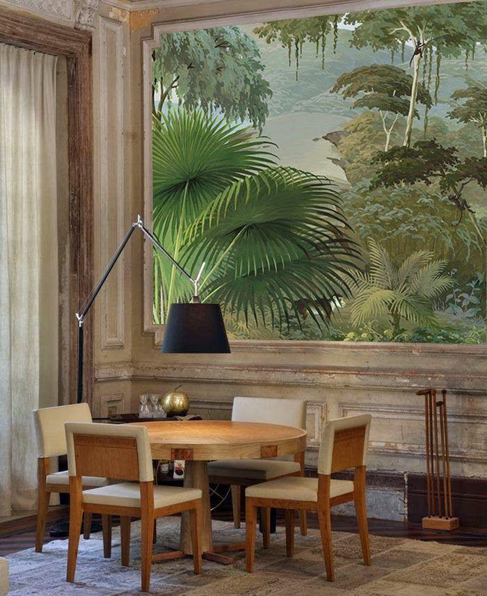 Jungle wallpaper Stone & Living - Immobilier de prestige - Résidentiel & Investissement // Stone & Living - Prestige estate agency - Residential & Investment www.stoneandliving.com