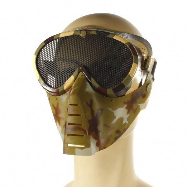 Airsoft Games Vollgesichtsaugen Nasenschutzgitter – Motocicleta – # 2   – Airsoft Helmet
