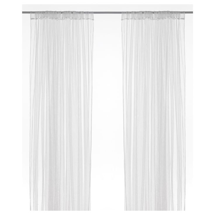 LILL Lace curtains, 1 pair, white | Net curtains, Window ...