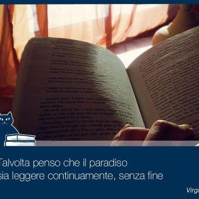 Talvolta penso che il paradiso sia leggere continuamente, senza fine (Virginia Woolf)