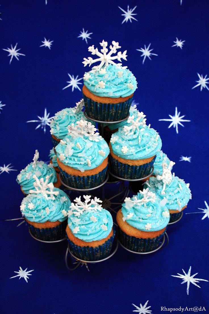 Frosty cupcakes. I know Christmas is over (and technically winter is over), but these are just beautiful!