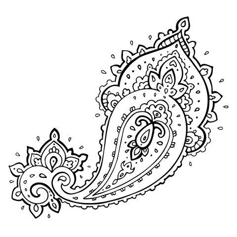 paisley tattoo designs | Beautiful paisley tattoo idea
