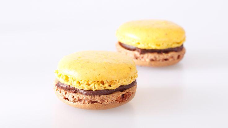 Frische Schokoladen-Ingwer-Macarons kaufen. Handgemacht und von bester Qualität. Einfach bestellt und schnell versandt! #macarons #macaron