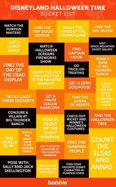 The Ultimate Disneyland Halloween Time Bucket List. Things to do for Mickey's Halloween Party during October at Disney.