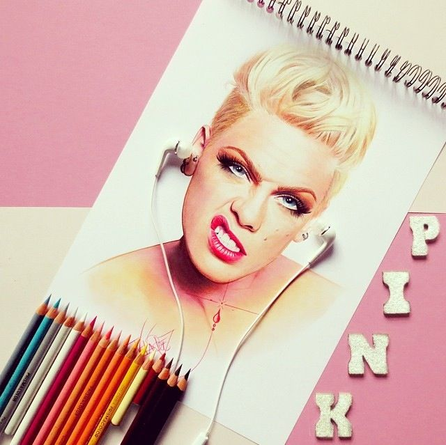 Taylor Momsen: P!nk Drawing From Instagram.
