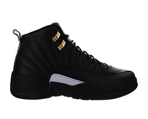 Air 12 Retro Men Basketball Running Sneakers Metallic Gold Leather Athletic Shoes For Men Black