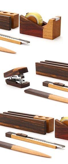 Magno wooden stationary set // so beautiful #productdesign