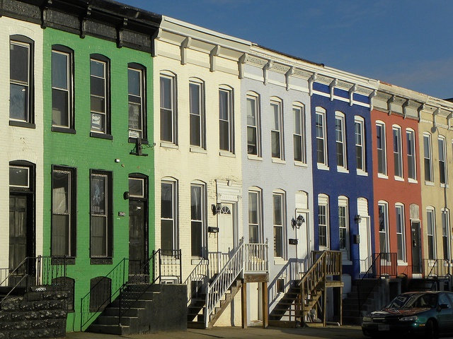 Some pretty picturesque Baltimore rowhouses