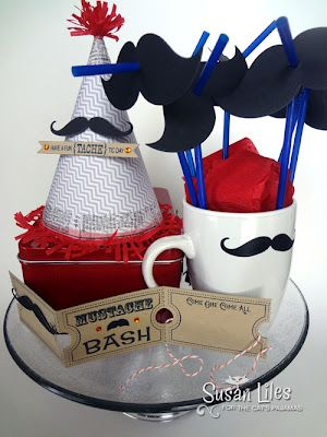 Mustache themed birthday... Not usually a fan of facial hair, but for this I may make an exception...
