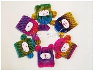 Crochet Monkey Key Cover finish size 6x7 cm, I use the Wibra Fenna yarn