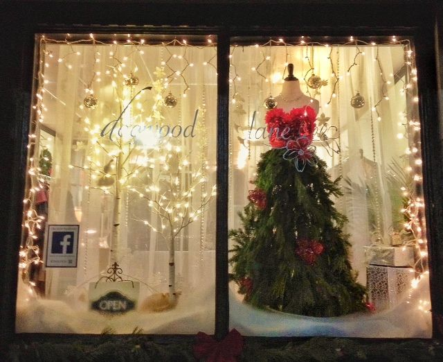 fantasy christmas tree gown in a winter wonderland bronte shop displays - Christmas Tree Shops Near Me