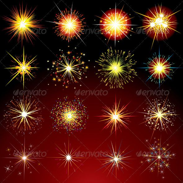 Sparks and Fireworks #GraphicRiver Brightly Stars, Flashes, Fireworks, Sparks and Flares Variation. Isolated Vector Design Elements Pack Includes versions: – AI, EPS, CDR and HIGH rez JPG + Bonus: vector including CMYK colors for print Keywords: sparkler, fire, sparkling, lit, sparks, burst, petard, starry, ignition, flare, lens, bright, brightly, festive, feast, flash, blink, flicker, explosion, clip, art, different, collection, outburst, up, blaze MORE VECTOR DESIGN ELEMENTS MORE VECTOR…