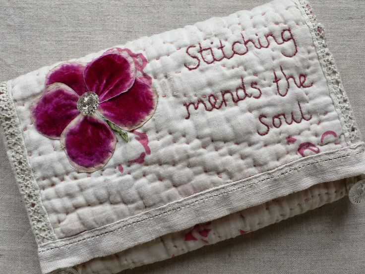 gentlework: huswif Maybe use grandma's hankies to repurpose for this cute stitch kit.