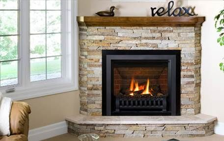 corner gas fireplace | The Corner Gas Fireplace . . . A Great Way To Maximize Your Space!