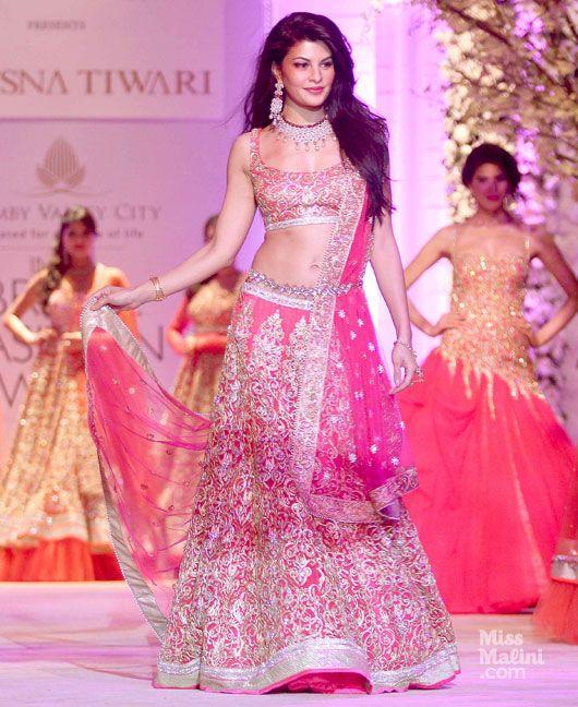 wow #Desi Lehenga: @Asli_Jacqueline for JONA by Jyostna Tewari https://www.facebook.com/pages/JONA-by-Jyotsna-Tiwari/176733589077677?ref=br_rs