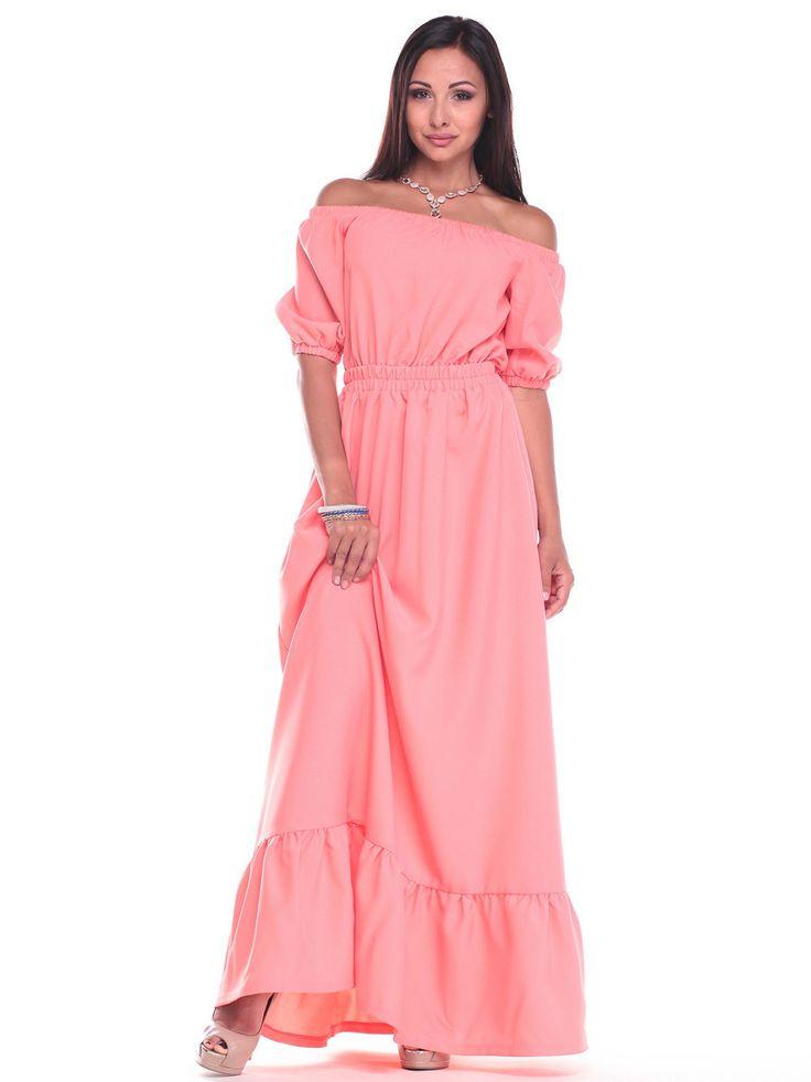 Платье светло-кораллового цвета - Rebecca Tatti 2434538