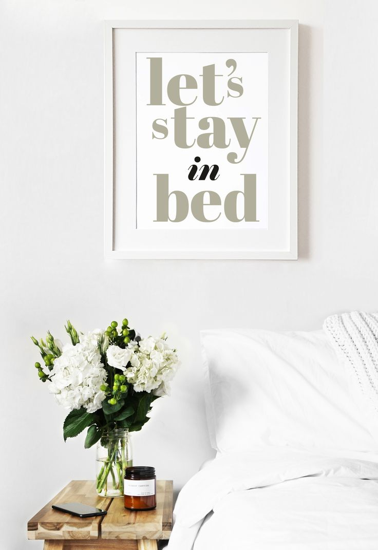 Lets stay in bed - hygge home print, bedroom decor.. #letsstayinbed #print #hyggeprint #hyggehome #bedroom #bedroomprint #bedroomdecor #couplegift #lovegifr