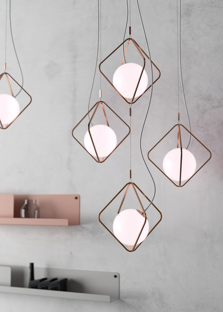 This subtle and geometrically balanced light offers and a wide variety of combinations. It can be hung separately or in vertical lighting arrangements. BROKIS - Lucie Koldova - lights - interior - design.