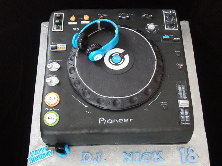 DJ Mixer cake with headphones - Cake Decorating Community - Cakes We Bake