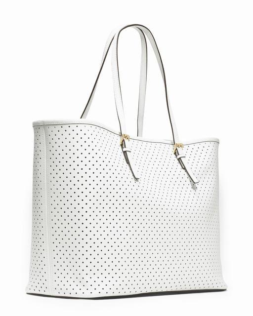Michael Kors Jet Set Medium Perforierten Reise Tote Weiß 1 #bagsandpurses#jewellery|#jewellerydesign}