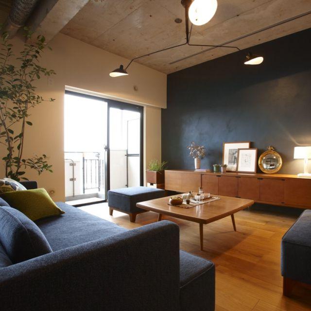 scandicさんの、部屋全体,観葉植物,照明,ソファ,DIY,カフェ風,北欧,IDEE,リノベーション,セルフペイント,のお部屋写真