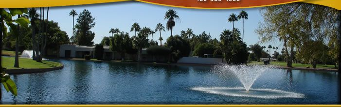 Fountain of the Sun. A residential community in Mesa, Arizona