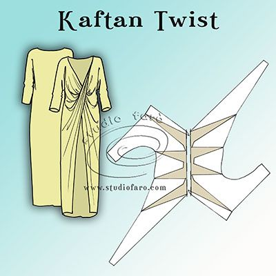 Just like the tiny fabric and paper models from yesterday: the single twist pattern for the Kaftan Twist #PatternPuzzle.  Huge thanks to everyone for coming out to play.  :)