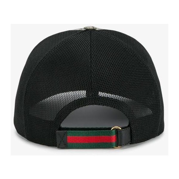 9f66555bb4c Gucci snake print GG supreme baseball cap (£190) ❤ liked on Polyvore  featuring accessories