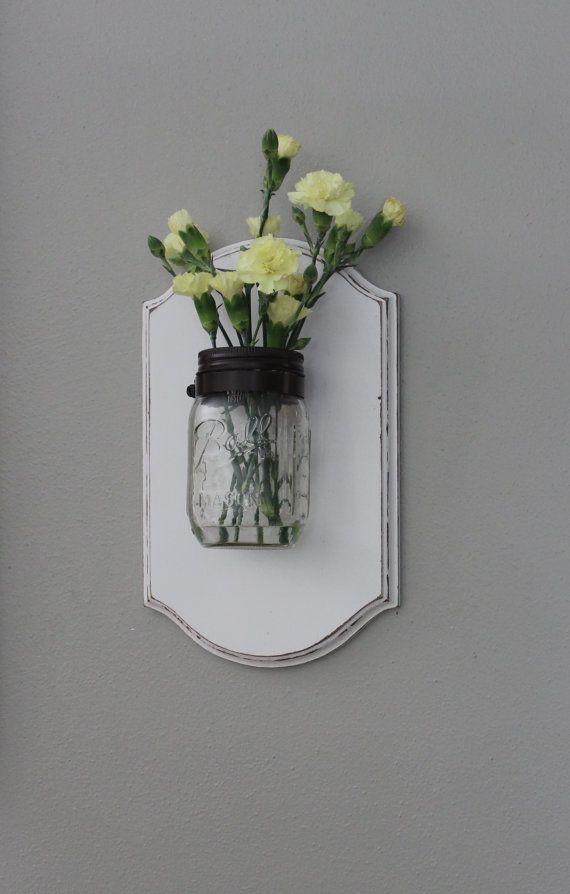 Mason Jar Wall Decor Hobby Lobby : Mason jar pint sized flower holder candle vase decor