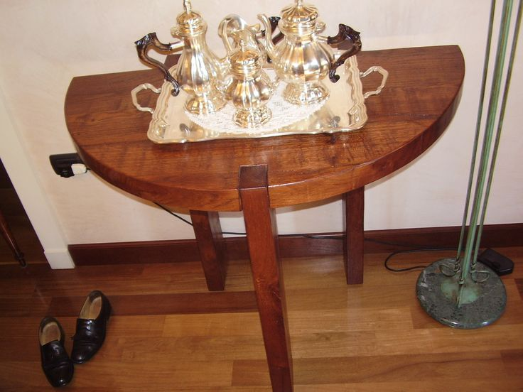 a piece of the table