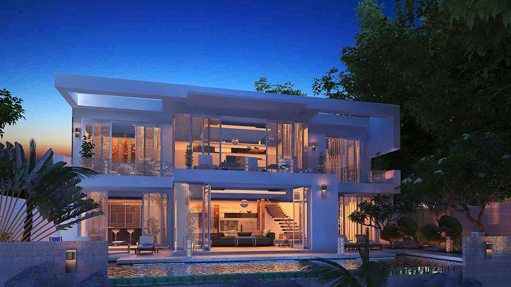 Villa white de nuit