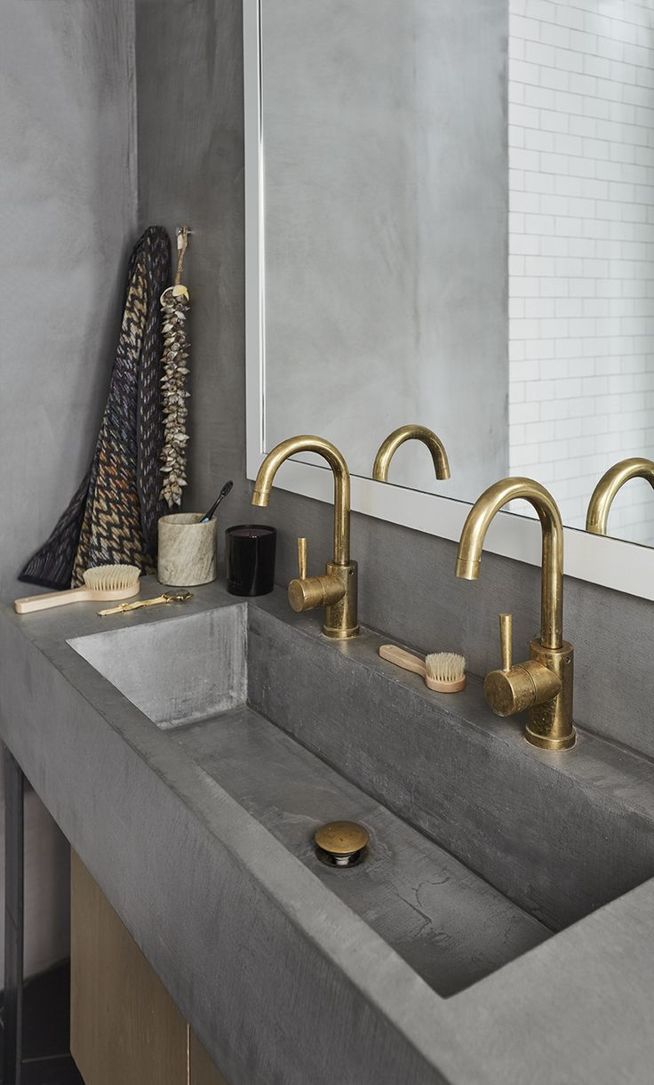Concrete sink. Designed by Sander Forbes Rolfsen