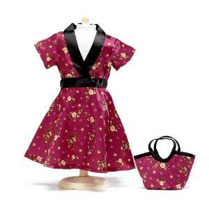 """Satin Tunic Dress - 18 Inch Doll Clothes/clothing Fits American Girl - Outfit Includes 18"""" Dolls Accessories by Wish Doll Company. $17.99. This outfit includes a shoulder purse in matching floral fabric; Classic tunic styling for this dress in gorgeous rose floral with black satin trim; Made to fit 18 Inch dolls such as American Girl, Madame Alexander, My Generation, etc.; Luxurious high quality fabrics, machine washable, safety tested. **Doll not includedThis is a real ..."""