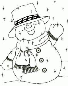 Imprimir dibujos para colorear de navidad saludando