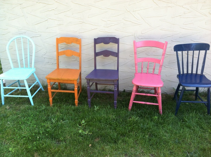 Wooden Chairs Stay Painted For My Classroom