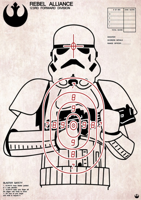This Storm Trooper Target Print would be great for nerf practice
