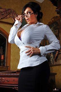 Denise Milani beautiful in tight shirt