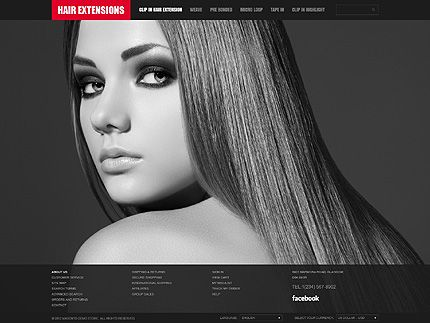 Hair Extensions Magento Themes by Hermes
