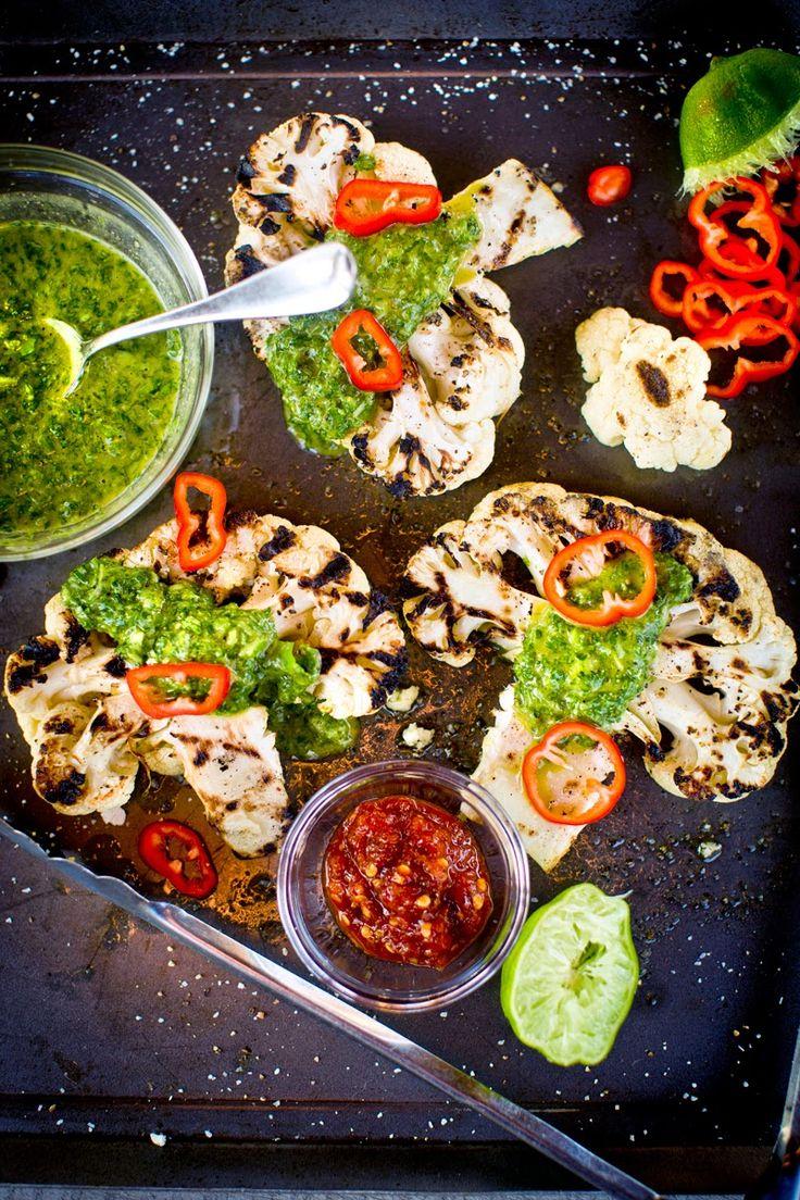 White apron chef fresno - The Chubby Vegetarian Grilled Cauliflower With Fresno Chili Chimmichurri