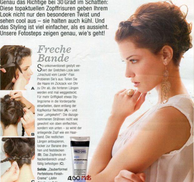 коса-ободок с забранными волосами