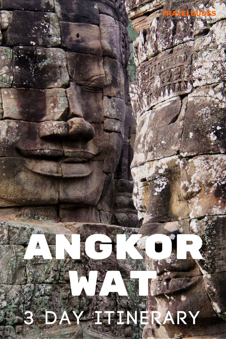 A 3-Day Guide to visiting the temples of Angkor Wat near Siem Reap, Cambodia.  Tips and tricks for making the most of your Southeast Asia trip. | Blog by Travel Dudes: Community for Travelers, by Travelers!
