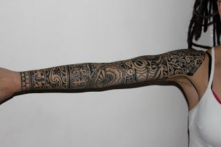I'd like to share my polynesian sleeve with you all. It's been finished since November but I've only recently taken pictures of it in its co...