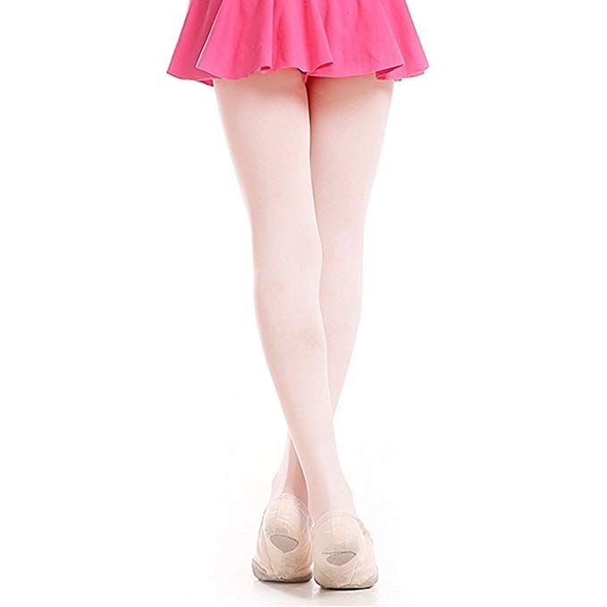 02427bd680975 2 Pairs Girls' Ultra Soft Pro Dance Tights Ballet Footed Tight  (Toddler/Little