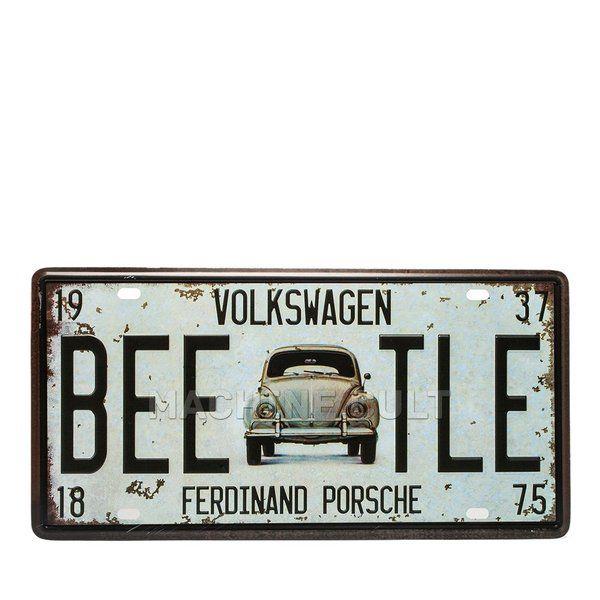 Placa Fusca Ferdinand Porsche - Alto Relevo - Machine Cult | Loja online especializada em camisetas, miniaturas, quadros, placas e decoração temática de carros, motos e bikes