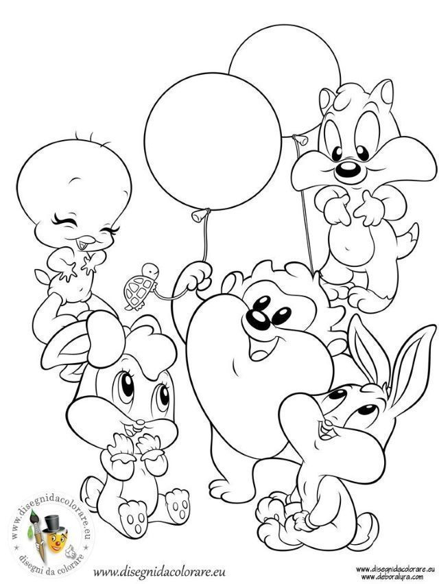 Coloriage Baby Looney Toons Baby Looney Tunes Easy Cartoon Drawings