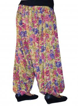 Printed HAREM PANTS Balloon Afghani Shalwar direct from Patiala City DPS09