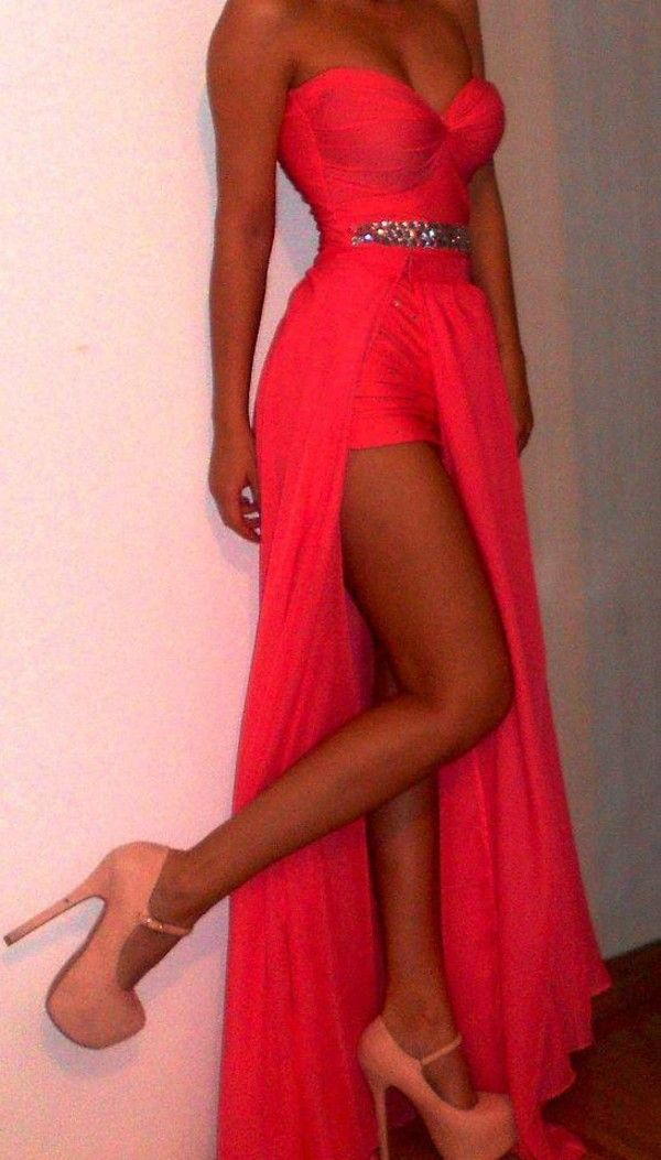 Dress: maxi prom shoes wedding gown prom clothes clothes: wedding sparkles slit high heels coral